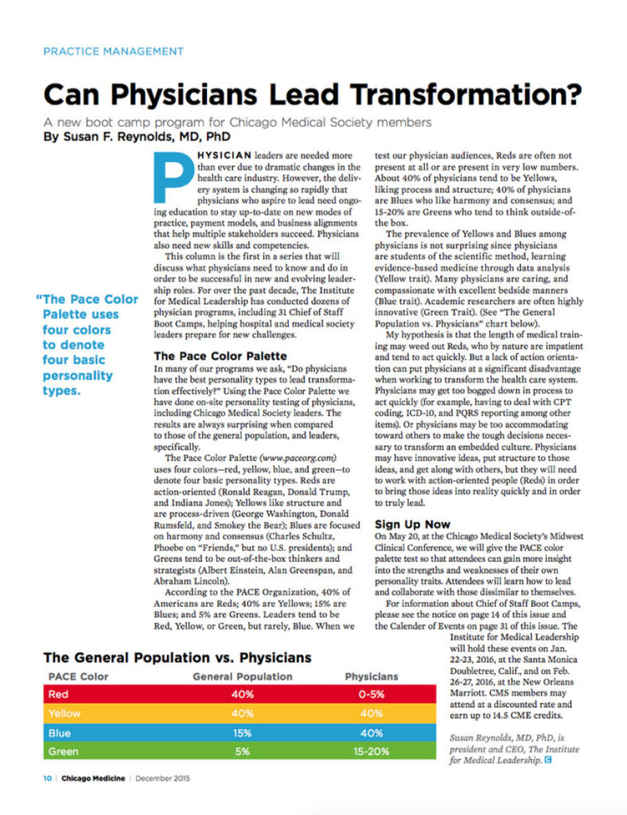 Can Physicians Lead Transformation