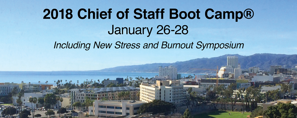 Chief of Staff Boot Camp 2018 | The Institute For Medical Leadership